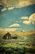 Run Down Shack Posters - Cabin the Sagebrush Poster by Jill Battaglia