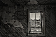 Cabin Window Framed Prints - Cabin window Framed Print by Christian Peay