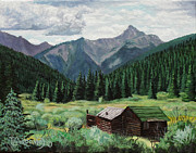 Tim Paintings - Cabin With A View by Timithy L Gordon