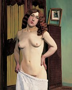 Half Length Paintings - Cabinet Chest by Felix Edouard Vallotton
