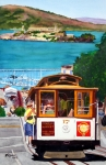 Alcatraz Painting Prints - Cable Car No. 17 Print by Mike Robles