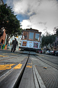 Market Street Acrylic Prints - Cable Car Acrylic Print by Peter Tellone