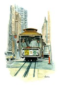 Tram Originals - Cable Car - San Francisco by Ambika Jhunjhunwala
