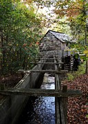 Grist Mills Framed Prints - Cable Grist Mill 3 Framed Print by Mel Steinhauer