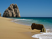 Baja Framed Prints - Cabo San Lucas Beach 1 Framed Print by Shane Kelly