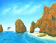 Sea Of Cortez Paintings - Cabo san Lucas Mexico by Jerome Stumphauzer