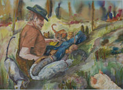 Caboodle Ranch Cats Print by Barbara McGeachen