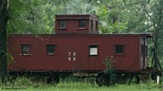 Old Caboose Framed Prints - Caboose-2 Framed Print by Sherry Gombert