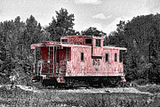 Caboose Digital Art Posters - Caboose at Rest Poster by Bonnie Willis