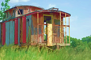 Old Caboose Posters - Caboose Poster by Don and Sheryl Cooper