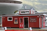 Caboose Posters - Caboose On  the Dock Poster by Pamela Walrath