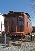 Railroad Companies Prints - Caboose Print by Skip Willits
