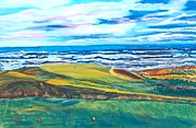 Golf Pastels - Cabot Links Hole 14 by Frank Giordano
