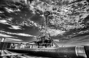 Drilling Rig Framed Prints - Cac001-6 Framed Print by Cooper Ross