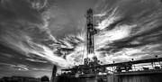 Oil Rig Prints - Cac001-7 Print by Cooper Ross