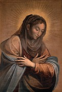 Virgin Mary Prints - Caccia Guglielmo Know As Moncalvo, The Print by Everett