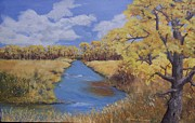 Cottonwood Paintings - Cache La Poudre River by Raymond Schuster
