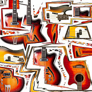 Music Mixed Media Prints - Cacophony Print by Russell Pierce