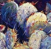 Cactus Pastels - Cactus close 4 by William Lurcott
