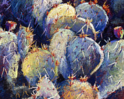 Cactus Pastels - Cactus close 5 by William Lurcott