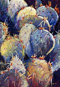 Cactus Pastels - Cactus close 7 by William Lurcott