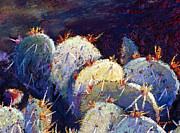 Cactus Pastels - Cactus close 8 by William Lurcott