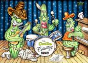 Country Music Town Prints - Cactus Jam Print by Cristophers Dream Artistry