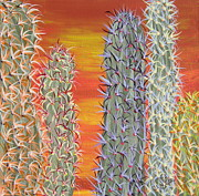 Marcia Weller-wenbert Metal Prints - Cactus of Color 12 Metal Print by Marcia Weller