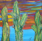 Marcia Weller-wenbert Metal Prints - Cactus of Color 16 Metal Print by Marcia Weller