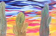Marcia Weller-wenbert Metal Prints - Cactus of Color 21 Metal Print by Marcia Weller-Wenbert