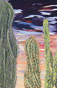 Marcia Weller-wenbert Metal Prints - Cactus of Color 5 Metal Print by Marcia Weller
