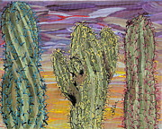 Marcia Weller-wenbert Metal Prints - Cactus of Color 8 Metal Print by Marcia Weller