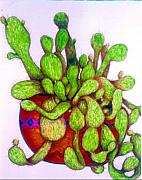 Tex-mex Art - Cactus by Rae Chichilnitsky