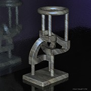 Tubular Framed Prints - Cad Sculpture No26 - Link Abstract - 29082012 Framed Print by Michael C Geraghty