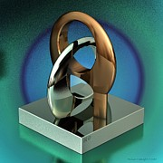Steel Sculpture Framed Prints - Cad Sculpture No43 - Unity - 22092012 Framed Print by Michael C Geraghty
