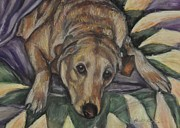 Labrador Retriever Pastels - Caddy by Heather Kertzer