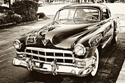 Antique Car Art Posters - Caddy Poster by Tony Grider