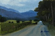 Gatlinburg Painting Framed Prints - Cades Cove Framed Print by Erin Rickelton