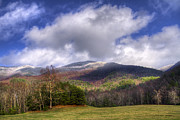 Fall Scenes Framed Prints - Cades Cove First Dusting of Snow Framed Print by Debra and Dave Vanderlaan
