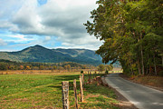 Smoky Skies Prints - Cades Cove  Print by Lena Auxier