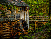 Gatlinburg Framed Prints - Cades Cove Mill Painted Framed Print by Dave Bosse
