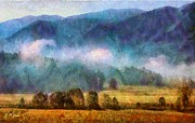 Smokey Mountains Paintings - Cades Cove Tennessee  by Elizabeth Coats