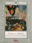 American Automobiles Metal Prints - Cadillac 1920 1920s Usa Cc Cars Metal Print by The Advertising Archives