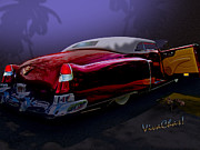 Moonglow Prints - Cadillac Biarritz Convertible Daddys Caddy Print by Chas Sinklier