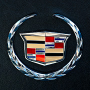 Car Part Framed Prints - Cadillac Emblem Framed Print by Jill Reger