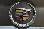 Motors Framed Prints - Cadillac Emblem Rear Srx Framed Print by Lawrence Christopher