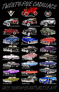 Watercolor Art Prints Posters - Cadillac Poster Note Cards Poster by Jack Pumphrey