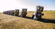Installation Art Art - Cadillac Ranch 1 Amarillo Texas by Deborah Smolinske