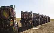 Installation Art Art - Cadillac Ranch 2 Amarillo Texas by Deborah Smolinske