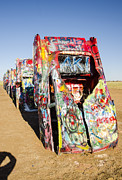 Installation Art Metal Prints - Cadillac Ranch 4 Amarillo Texas Metal Print by Deborah Smolinske